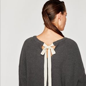 Zara Knit Bow Back Sweater
